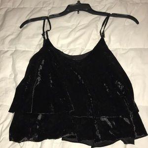 Black Velvet Top